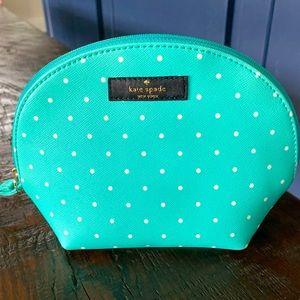 Kate Spade ♠️ Turquoise Blue White Polka Dots Bag